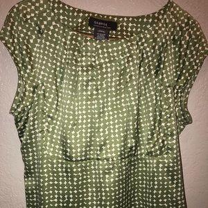 Silk green blouse
